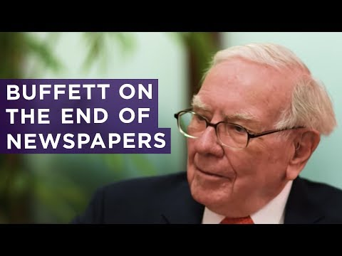 Why Warren Buffett says the newspaper business is 'toast'