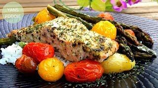 香蒜牛油檸檬焗鮭魚 GARLIC LEMON BUTTER SALMON