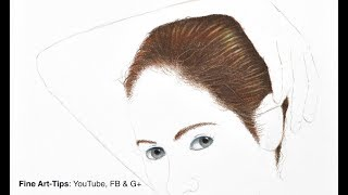 How to Draw Hair With Color Pencils - Narrated