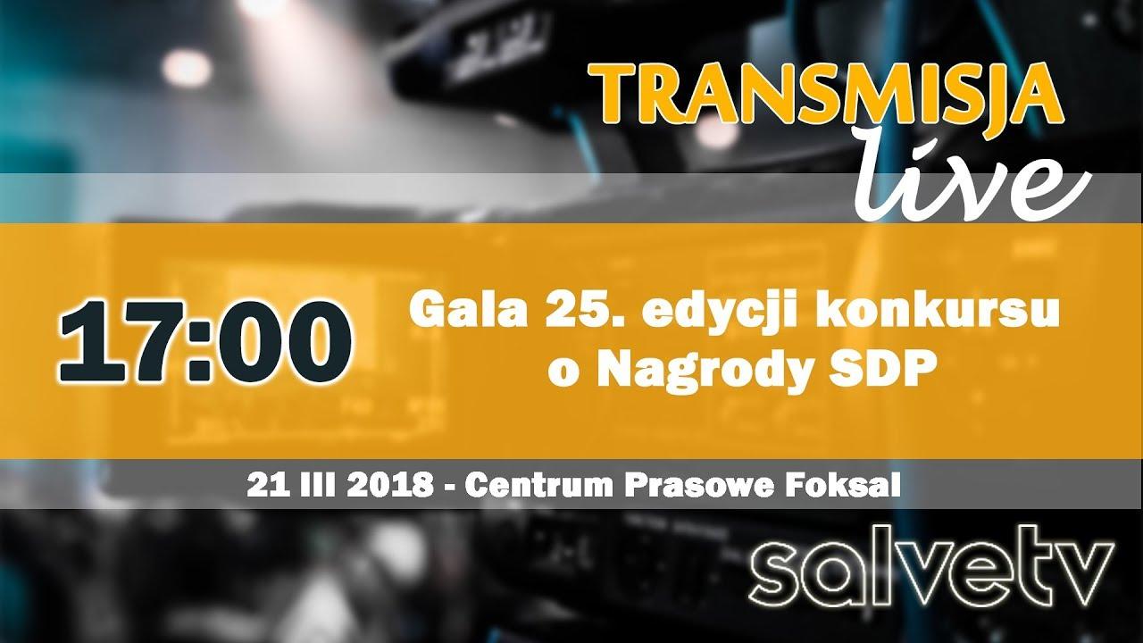 17:00 Gala 25. edycji konkursu o Nagrody SDP