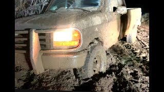 **We go from a Toyota Tacoma in the snow to a Ford F150 in the mud**