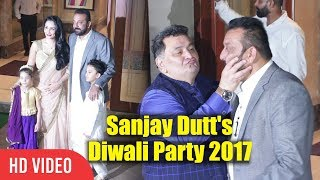 Rishi Kapoor And Neetu Singh At Sanjay Dutt Diwali Party 2017 | Sanju Baba