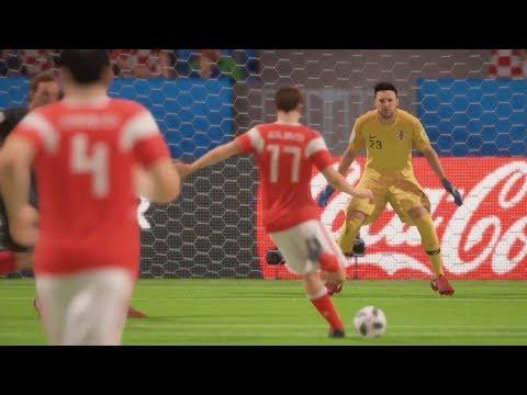 World Cup 2018 Croatia vs Russia - World Cup 2018 Quarterfinals Full Match Sim (FIFA 18)