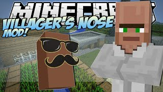 Minecraft | VILLAGER'S NOSE MOD! (Grow Your Own Trayaurus'!) | Mod Showcase