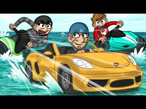 DRIVING CARS ON WATER!! | GTA 5 Funny Moments