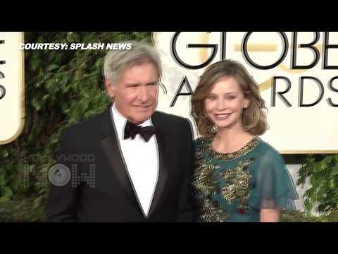 ASS GRAB: Calista Flockhart GRABS Harrison Fords BUTT  Golden Globes 2016