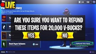How To Use *NEW* REFUND System in FORTNITE! Refund SKINS for V-BUCKS! (Fortnite Battle Royale)