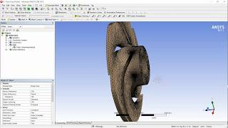 Tutorial CFD ANSYS FLUENT Using ansys solver  and ansys mesher session 2 (CFD) Centrifugal pump