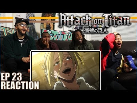 Download FEMALE TITAN REVEALED! ATTACK ON TITAN EP 23 REACTION/REVIEW