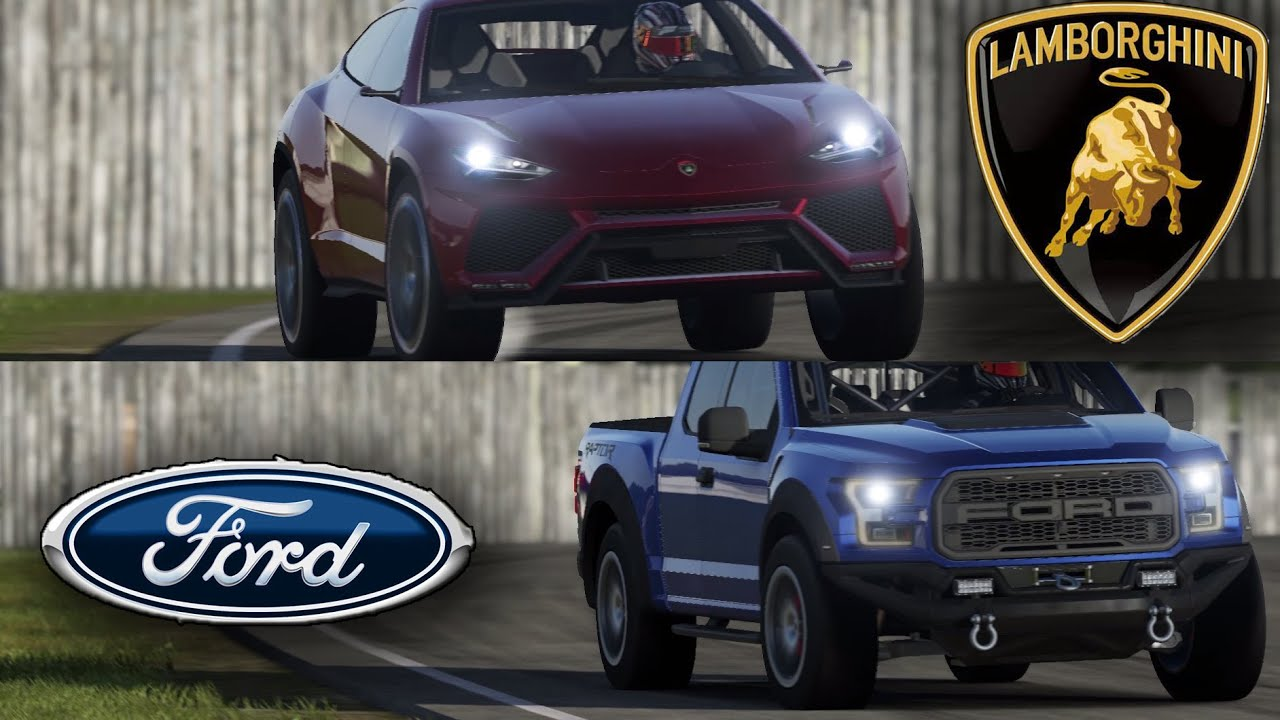 Top Gear  Lamborghini Urus vs F150 Raptor Maxed out  on the