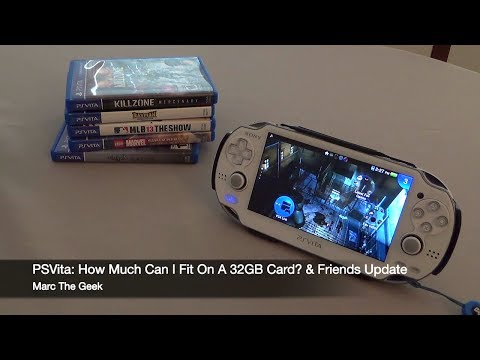 PSVita: How Much Can I Fit On A 32GB Card & Whats on My Vita