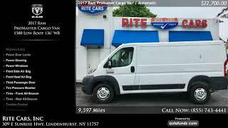 Used 2017 Ram ProMaster Cargo Van   Rite Cars, Inc, Lindenhurst, NY