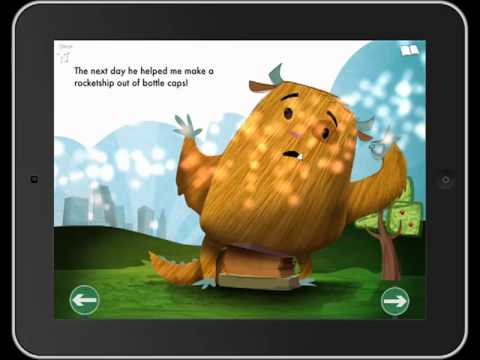 Even Monsters Get Sick - a (very!) interactive book app