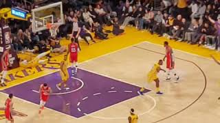 January 3rd Lakers vs Pelicans LeBron James alley-oops to Anthony Davis