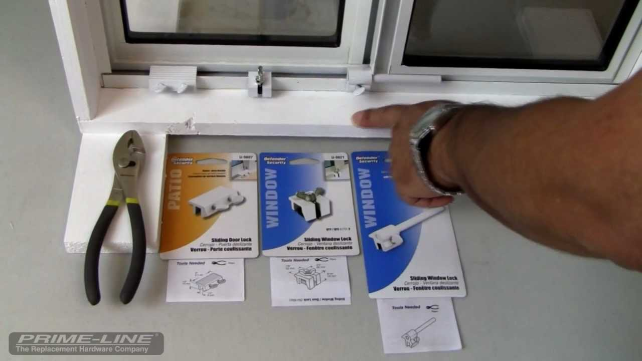 how to easy to install sliding window door security hardware