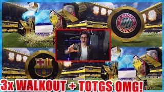 FIFA 17: UNGLAUBLICHES TOTGS PACK OPENING! (DEUTSCH) - ULTIMATE TEAM - 3x WALKOUT + TOTGS HOLY SHIT!