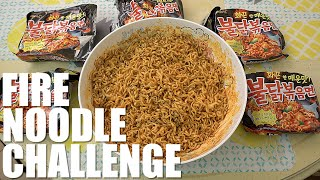 5 PACKS OF KOREAN FIRE NOODLE CHALLENGE