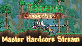 Starting out fresh - Terraria Journey's End Master Hardcore run stream