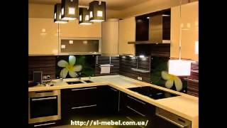 видео Кухня с фасадами пластик Постформинг