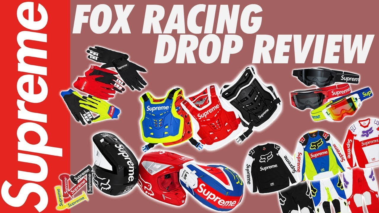 SUPREME X FOX RACING: HELMET, JERSEY, GOGGLES! - YouTube