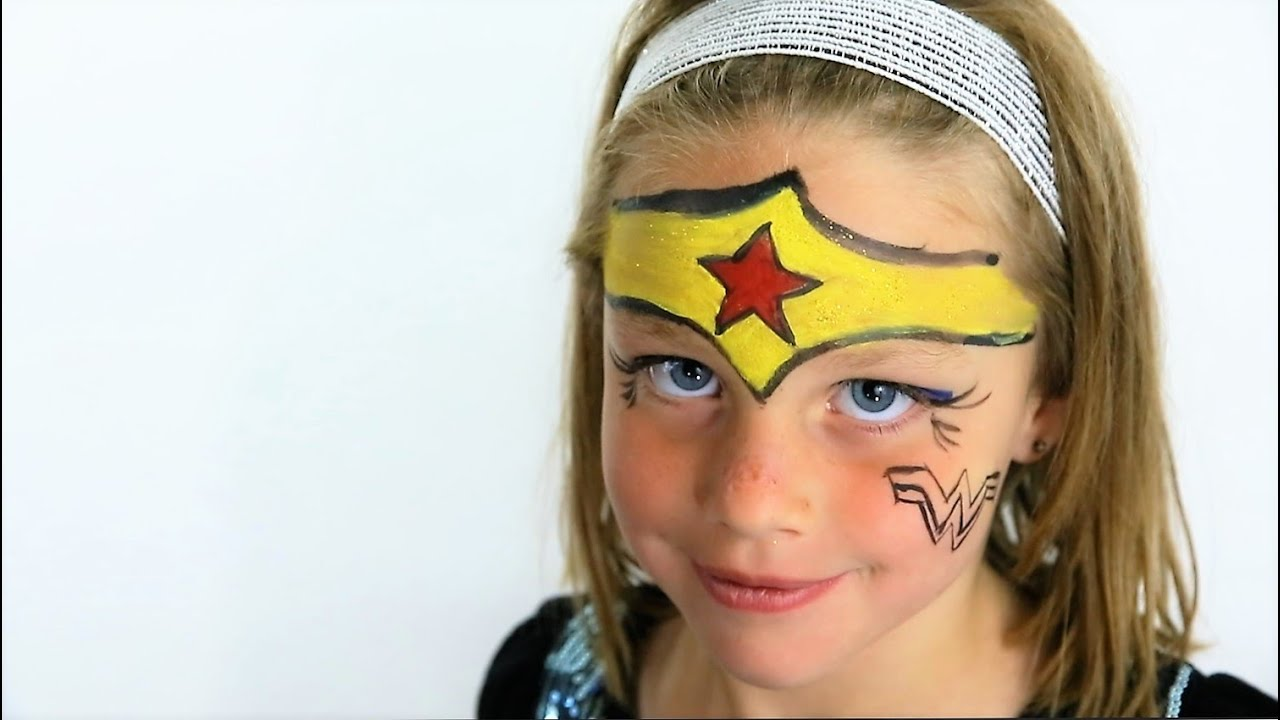 Supergirl Face Paint Easy
