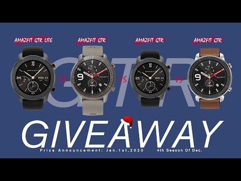 (CLOSED)Best Budget Smartwatch 2020? - AMAZFIT GTR Lite Smartwatch Giveaway + GTR Series Comparison