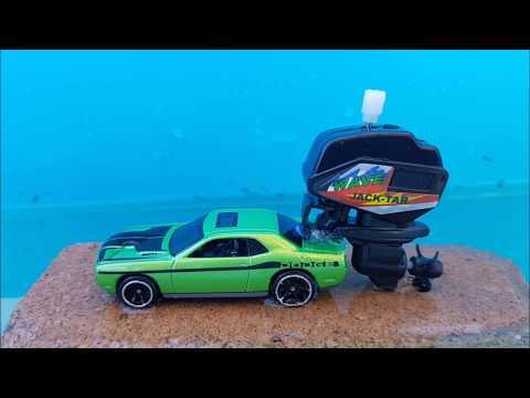 Stupid big outboard motors on Hot Wheels & Matchbox cars