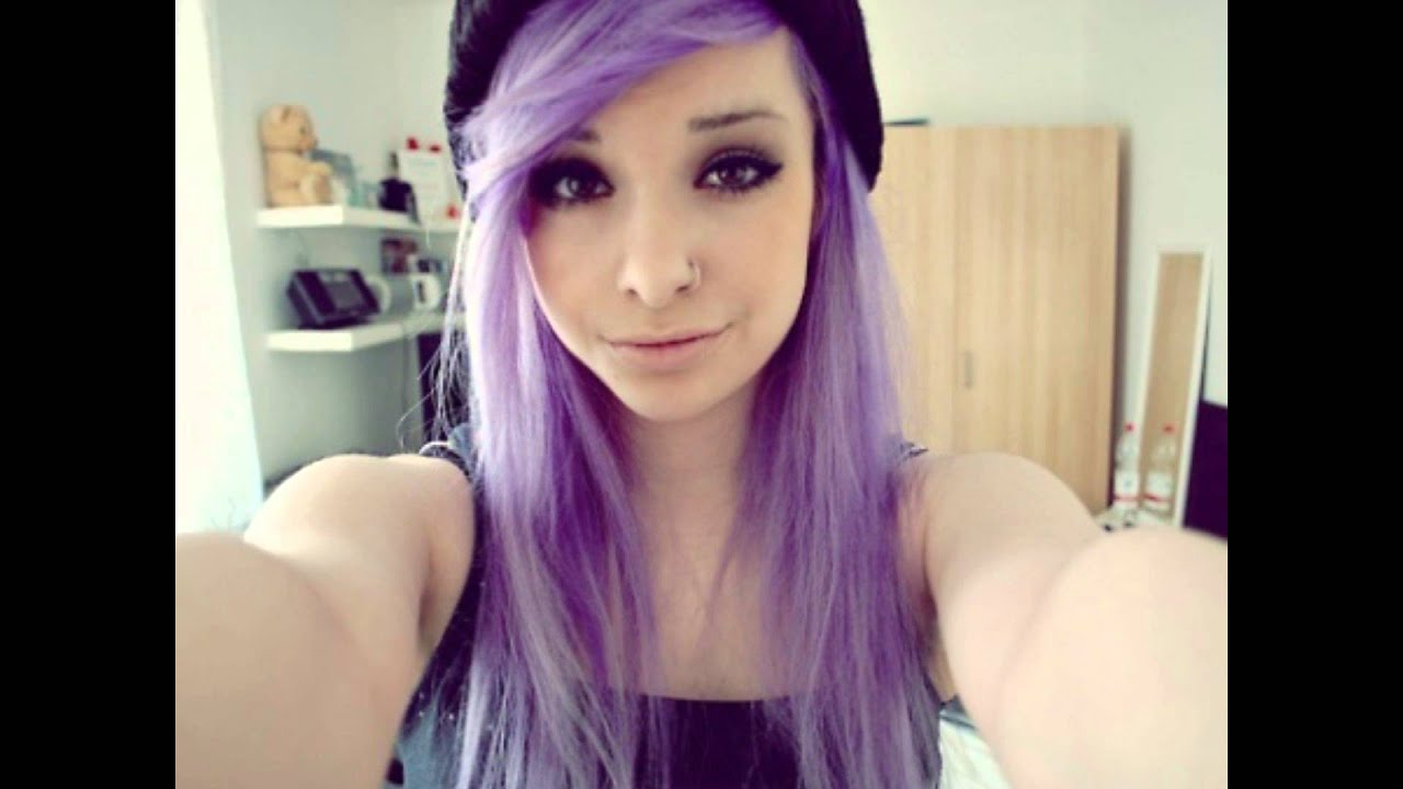 lilac purple scene indie hair