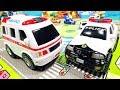 はたらくくるま 事故発生!?ちょっと大きなパトカーと救急車を紹介するよ♪ 緊急車ダブルセット パトロールカー 警察 トミカ 玩具レビュー 幼児 子供向け動画 乗り物 のりもの 開封 TOMICA