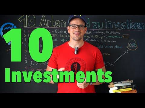 10 Geldanlage Möglichkeiten - Investments erklärt
