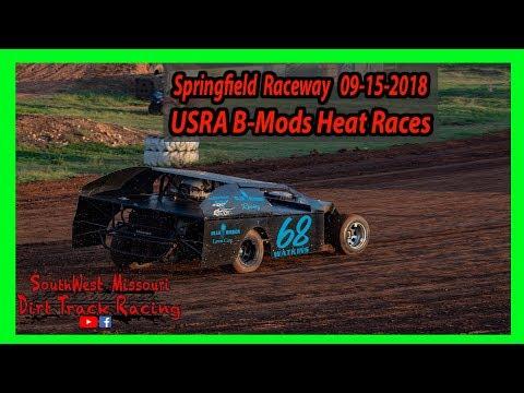 USRA B-Mods - Heat Races @Springfield Raceway 9/15/2018 Comp Cams