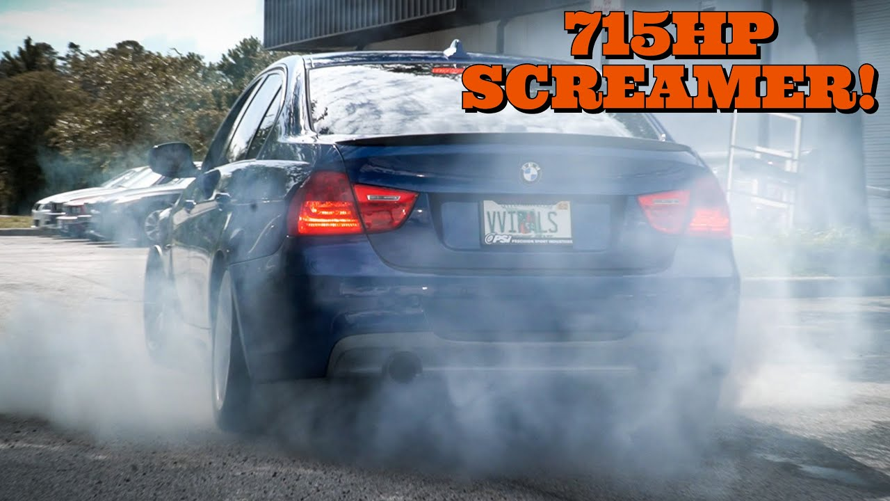 First Drive In My Single Turbo BMW 335i *BRUTAL PULLS & BURNOUTS*