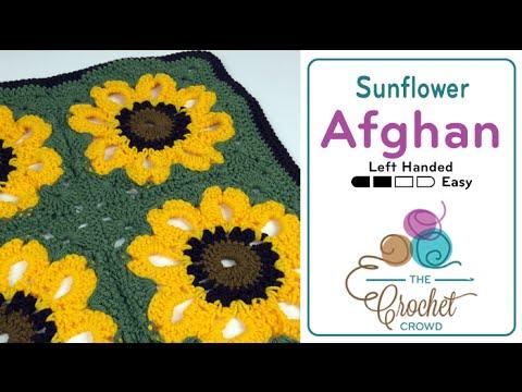 Crochet Vintage Sunflower Throw Tutorial The Crochet Crowd