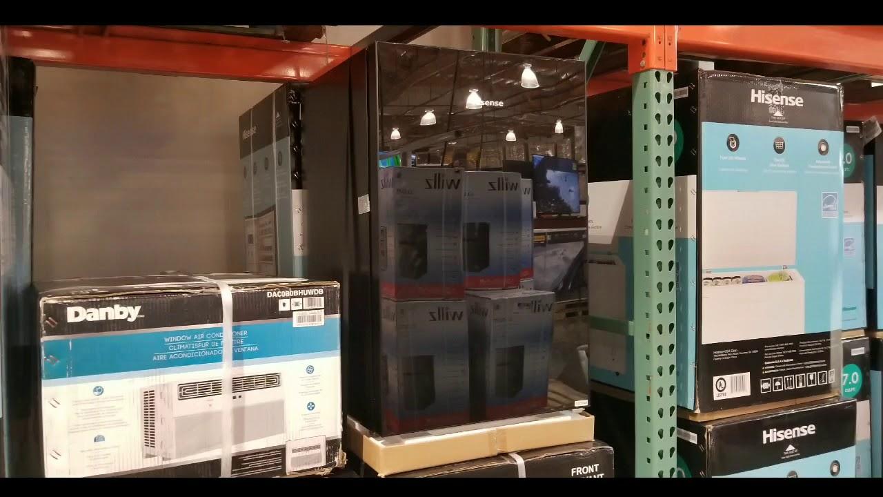 Costco! HiSense 4 4 CuFt Black Glass Refrigerator! $129!!!