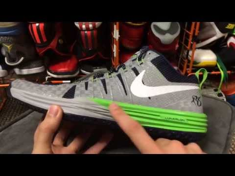 the latest a404c 0367d Nike Lunar TR1 Richard Sherman PE - College Navy Wolf Grey White Action  Green - YouTube