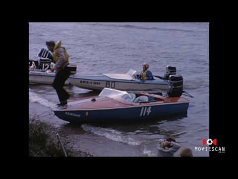 Vintage Speed Boat Racing | Classic Wooden Boat Hit And Sinks
