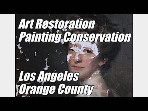 Art Restoration Painting Conservation Los Angeles Orange County CA