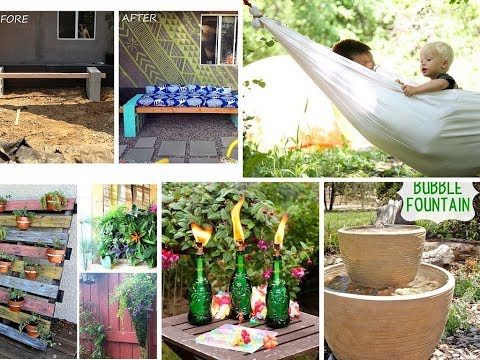 Top 40 Easy DIY Backyard Ideas 2018 | Foundry Garden Project Landscaping Fire Pit Patio Garden Decor