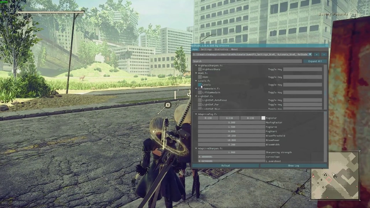 NieR Automata - ReShade preset to enhance the game