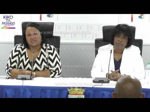 Minister di Desaroyo Sosial Labor i Bienestar Sra R Larmonie Cecilia 21 Jan 2016