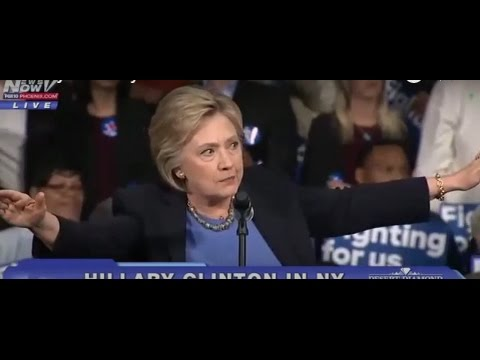 Hillary Clinton yells at Protesters LIVE NY Bernie Sanders Supporters at Clinton Rally 3/31/16