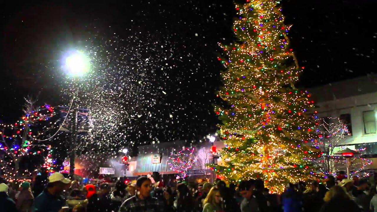 Fallon Home Christmas Tree Lighting 2013 Youtube