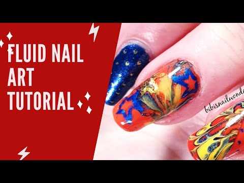 Fluid art nail tutorial, another pattern thumbnail