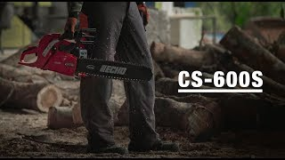 ECHO CS-600S chainsaw used by loggers in Malaysia- See the features that professionals depend on.