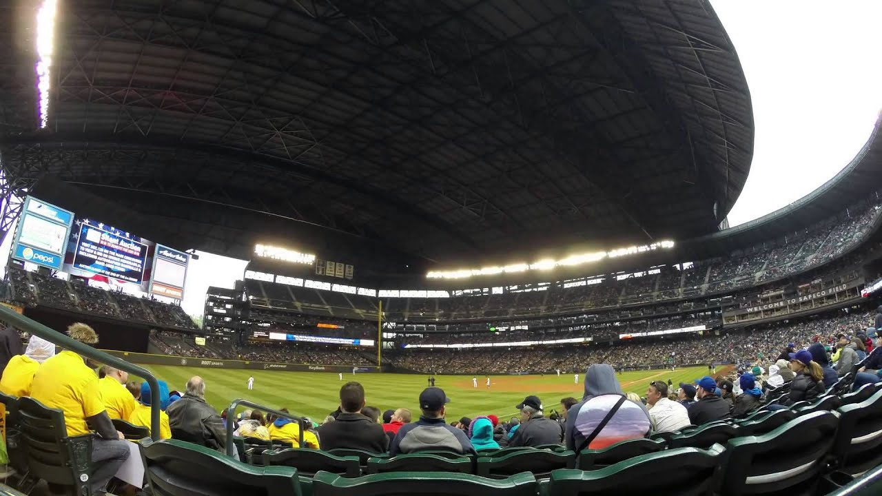 Safeco Field Roof Closing - YouTube