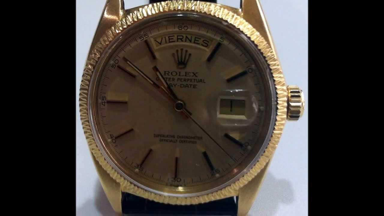 RELOJ DE PULSERA Marca Rolex \u0026quot;Presidente\u0026quot; en oro amarillo 18k.
