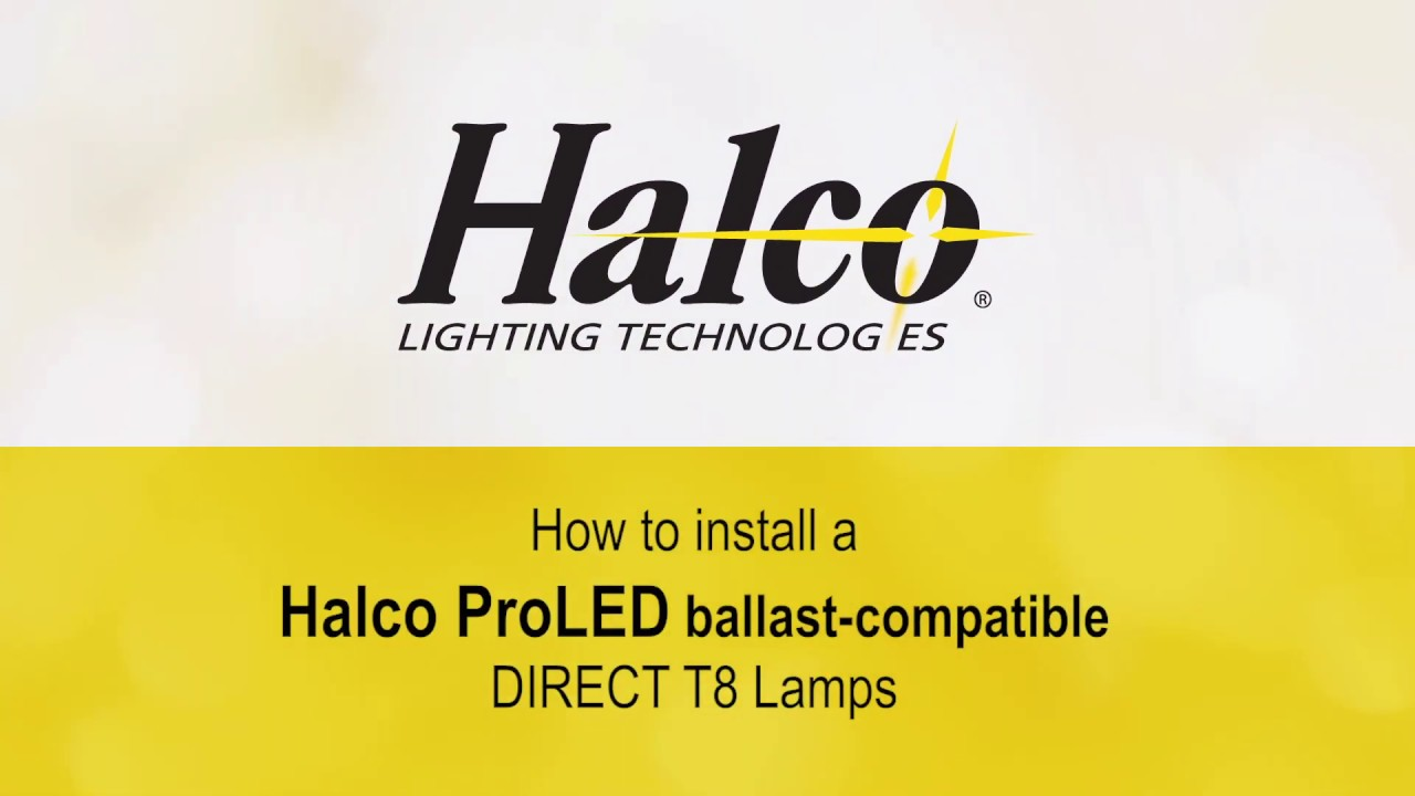 How to Install Halco ProLED Ballast-Compatible Direct T8 Lamps Halco Bulb Ballast Wiring Diagram on