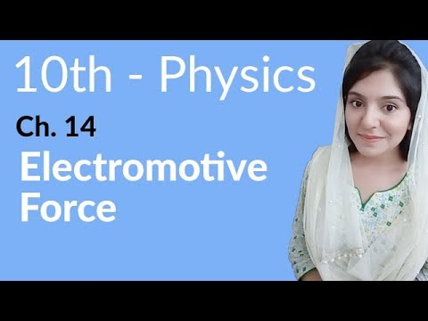 10th Class Physics, Ch 14, Electromotive Force - Class 10th Physics