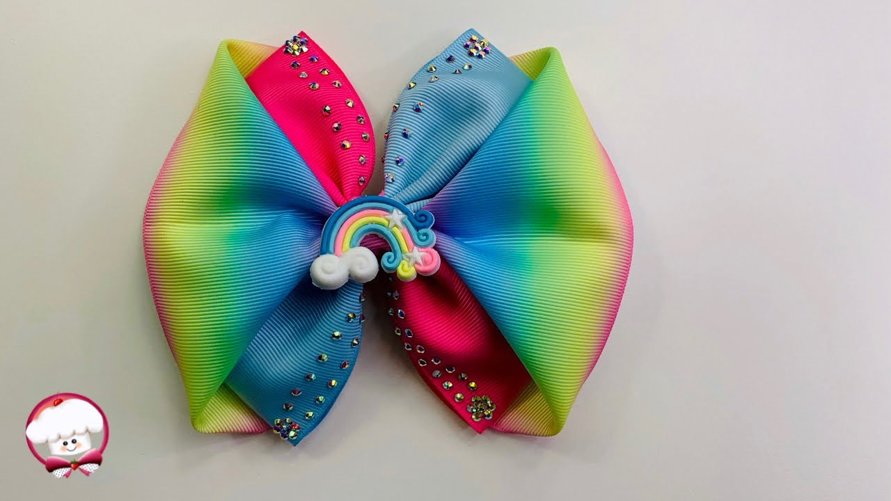 Como hacer moños para niñas con listón de 7.5 cm de ancho | moños fáciles de hacer | lazos de listón