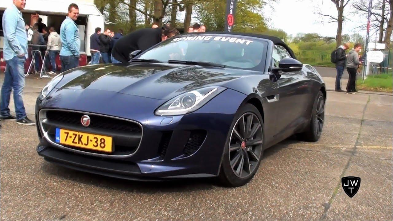Jaguar F-Type  V6 S & V8 S Convertible Drag Racing & Drifting! Exhaust SOUNDS!
